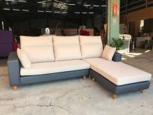 [全新] 新品米白配深灰半貓抓L型沙發L型沙發全新