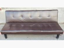 沙發床 皮面沙發床 咖啡色沙發床無破損有使用痕跡
