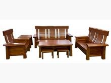 [全新] 桃花心木厚板123木沙發+茶几*木製沙發全新