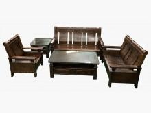 [9成新] 原木123含大小茶几*全新中古傢木製沙發無破損有使用痕跡