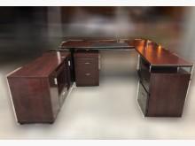 [9成新] CE122809 *胡桃色主管桌書桌/椅無破損有使用痕跡