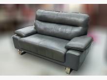 [9成新] A122910 *半牛皮雙人沙發雙人沙發無破損有使用痕跡