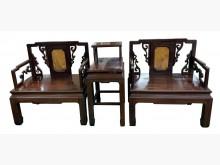 [8成新] 花梨木大理石1桌2椅其它桌椅有輕微破損