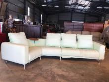 [9成新] 大慶二手家具 薄荷綠L型布沙發L型沙發無破損有使用痕跡