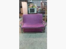 [9成新] 【尚典中古家具】紫色典雅布沙發床雙人沙發無破損有使用痕跡