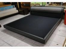 三合二手物流(實木皮革6*6床架雙人床架無破損有使用痕跡