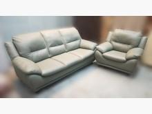 [8成新] A11506綠色3+1半牛皮沙發多件沙發組有輕微破損