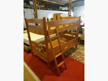 九成新大塊實木單人上下舖/雙層床雙人床架無破損有使用痕跡