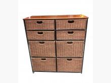 [9成新] 藤製8格收納櫃收納櫃無破損有使用痕跡