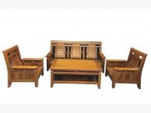 [9成新] 樟木組椅1+1+3+大茶几*木製沙發無破損有使用痕跡