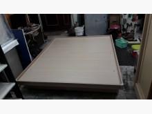 [9成新] 九成新實木白彰色後掀雙人床組雙人床架無破損有使用痕跡