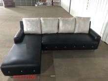 [全新] 庫存/零碼 黑色L型沙發L型沙發全新