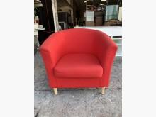 [8成新] 香榭家具*IKEA紅色布面扶手椅單人沙發有輕微破損