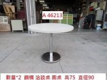 A46213 鋼構 3尺圓桌餐桌有輕微破損