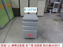 K13736 KEY 活動櫃辦公櫥櫃有輕微破損