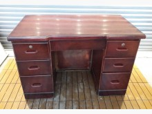 [8成新] E1218AJJH紅胡桃七抽書桌書桌/椅有輕微破損