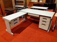 多功能L型辦公桌/電腦桌辦公桌無破損有使用痕跡