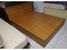 三合二手物流(橡木5*6床組)雙人床架無破損有使用痕跡
