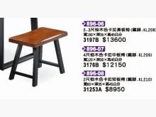 [全新] 高上{全新}2尺柚木色卡拉中板椅餐椅全新