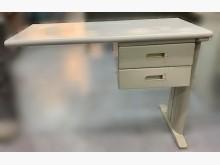 [8成新] 白色2抽辦公側桌* 中古辦公家具辦公桌有輕微破損