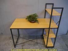 [9成新] 限量新品工業風4尺轉角書桌櫃書桌/椅無破損有使用痕跡