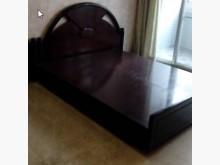 [9成新] 精緻實木雙人床架床頭板雙人床架無破損有使用痕跡