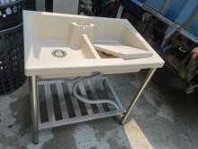 九成九新ABS塑鋼雙槽洗衣槽流理台近乎全新