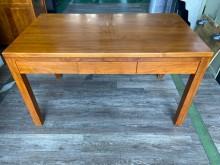 吉田二手傢俱❤新麗屋柚木書桌書桌/椅無破損有使用痕跡