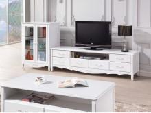 艾利法式烤白色L櫃$22700電視櫃全新