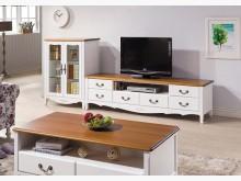 [全新] 艾菈法式柚木白色L櫃$22900電視櫃全新