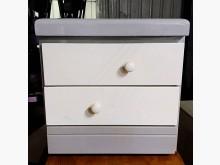 [9成新] 【尚典中古家具】白灰三抽床邊櫃收納櫃無破損有使用痕跡