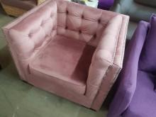 [全新] 毅昌二手家具~外銷時尚單人布沙發單人沙發全新