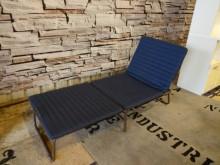 超值深藍單人沙發床(可拆洗)單人床架無破損有使用痕跡