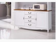 艾菈法式柚木白餐櫃下座14900碗盤櫥櫃全新