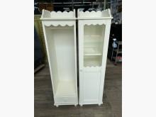 吉田二手傢俱❤1+1白色櫥櫃收納櫃無破損有使用痕跡