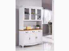 [全新] 艾菈法式柚木白色餐櫃$21900碗盤櫥櫃全新