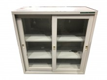 [9成新] 玻璃鐵櫃* 文件櫃 資料櫃 理想辦公櫥櫃無破損有使用痕跡