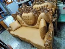 [95成新] 歐式牛皮沙發椅1+2+3+大茶几其它桌椅近乎全新