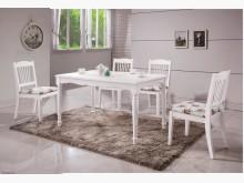 海倫鄉村白色4.3尺餐桌餐桌全新