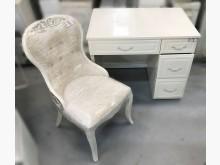 [8成新] E32001*白色4抽書桌含椅*書桌/椅有輕微破損