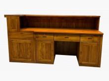 [95成新] 全實木柚木櫃台 吧檯 餐櫃* 二其它桌椅近乎全新