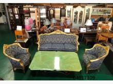 [9成新] 04017109 宮廷風客廳組多件沙發組無破損有使用痕跡