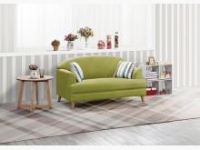 [全新] 荷琦二人座綠色貓抓皮沙發雙人沙發全新