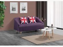 [全新] 尼多朗二人座紫色布沙發雙人沙發全新