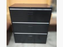[8成新] C4084*黑色3抽理想櫃辦公櫥櫃有輕微破損