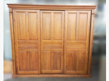 [8成新] ZH4094*樟木8尺衣櫃衣櫃/衣櫥有輕微破損