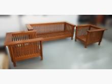 [8成新] TK4096*柚木113沙發組*木製沙發有輕微破損