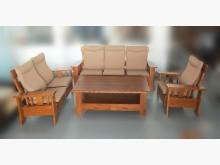 [8成新] TK4095*柚木123沙發茶几木製沙發有輕微破損