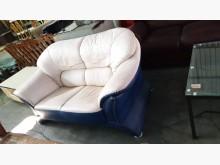 [8成新] 01501-雙人皮沙發雙人沙發有輕微破損