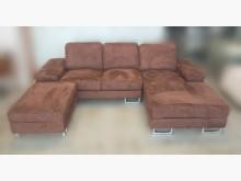 [7成新及以下] 咖啡色L型布沙發L型沙發有明顯破損